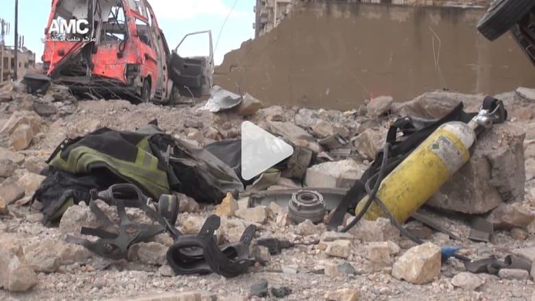 أكثر من 120 قتيلا في عشرات الغارات الجوية على حلب