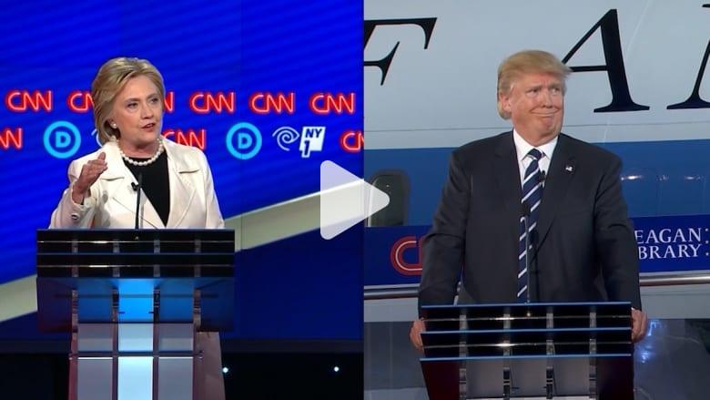 لأول مرة.. كلينتون وترامب وجهاً لوجه في مناظرة سيشاهدها 100 مليون شخص