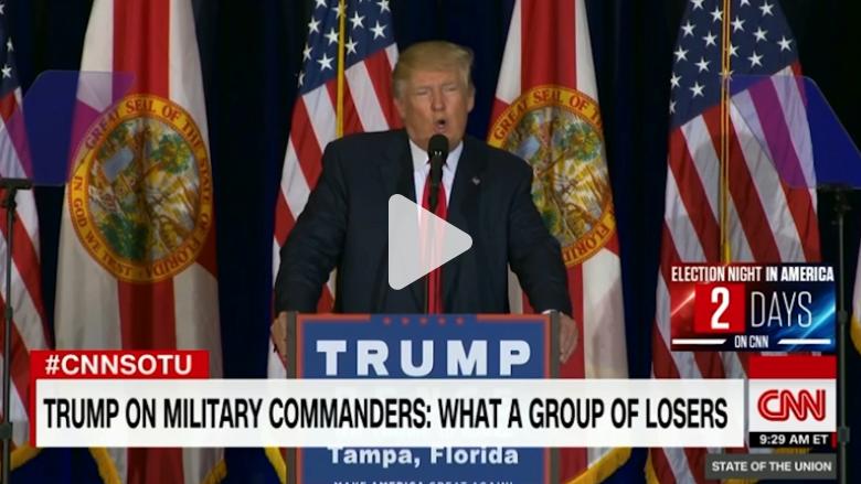 ترامب عن القادة العسكريين الأمريكيين: مجموعة من الفاشلين