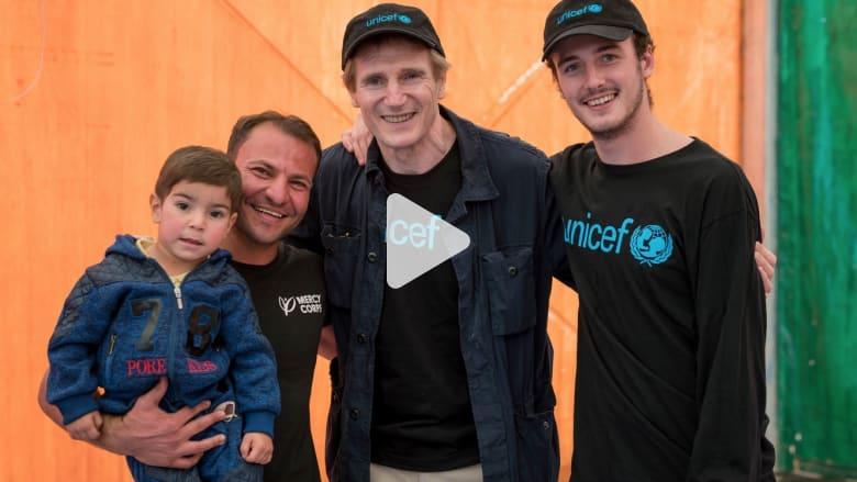 بالفيديو.. ليام نيسون: لن أنسى أبدا اللاجئين السوريين بالأردن