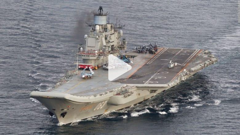 """بعد انسحابها من سوريا.. تعرف على حاملة الطائرات الروسية الوحيدة """"أدميرال كوزنيتسوف"""""""