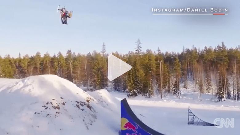 """هذه أول """"شقلبة"""" ثنائية في تاريخ التزلج على الثلج!"""