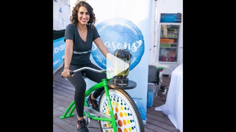 خلاط فوق دراجة.. ما الذي يحصل بالإمارات؟
