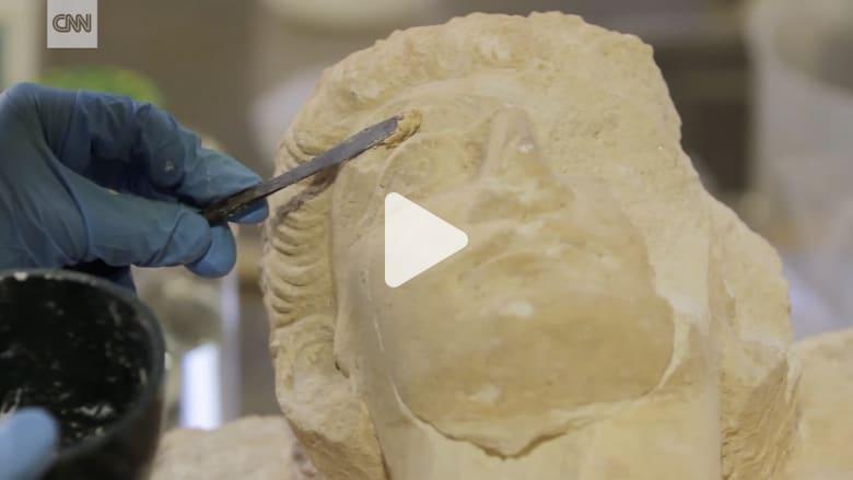 شاهد كيف انقذت كنوز تاريخية من تدمر بعد أن دمرها داعش