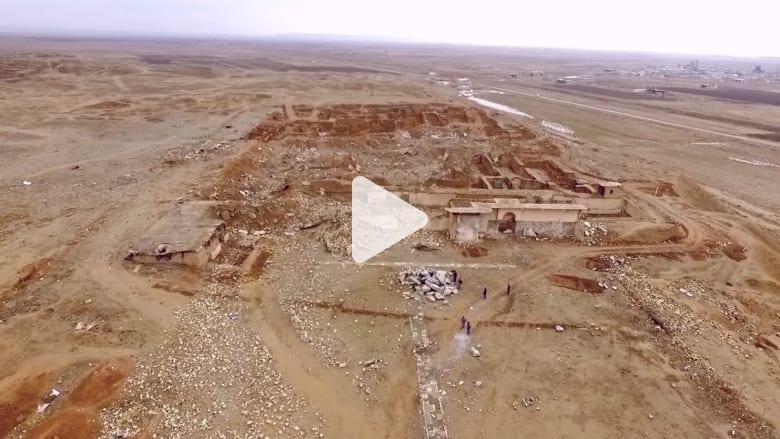 كاميرا CNN تزور مدينة نمرود بعد محو داعش لمعالمها التاريخية