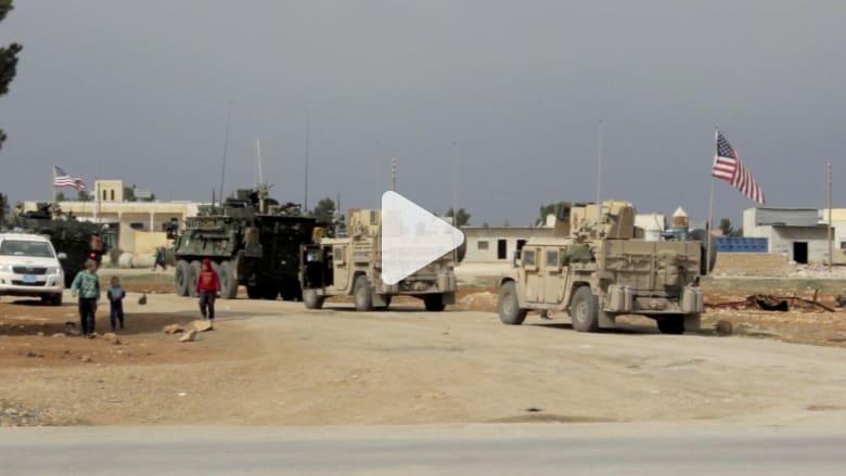 شاهد.. عربات عسكرية ترفع علم أمريكا تجوب شوارع منبج بسوريا