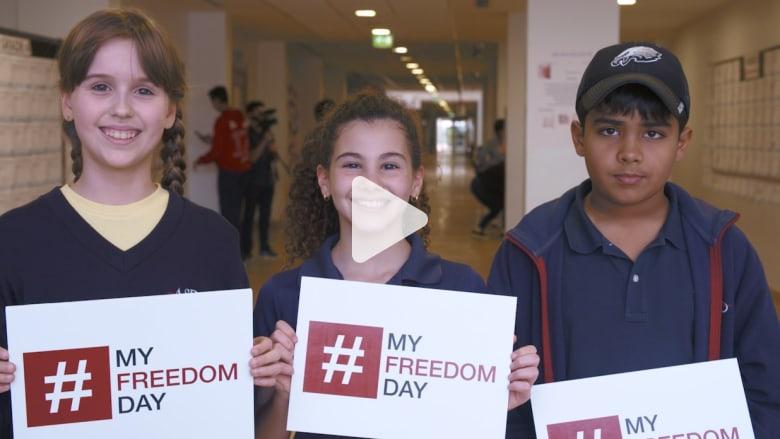 هكذا احتفل طلاب المدرسة الأمريكية في دبي بيوم الحرية في CNN
