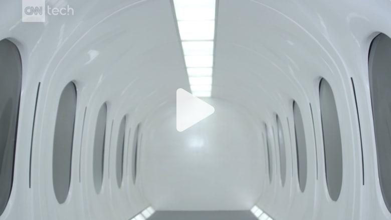 """شاهد.. بناء أول كبسولة """"هايبرلوب"""" للركاب في العالم"""