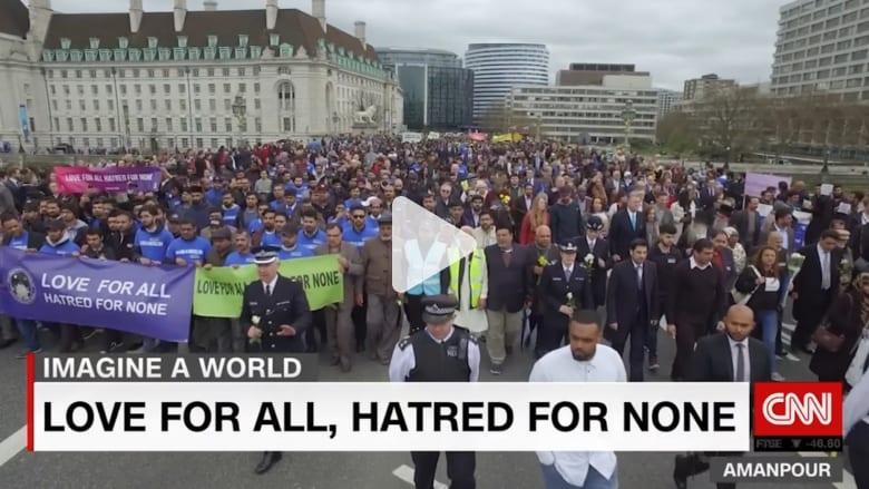 رسالة سلام من جماعة إسلامية تضامنا مع ضحايا لندن