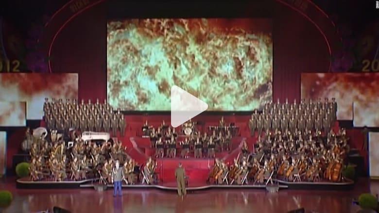 شاهد.. عرض في كوريا الشمالية يظهر أمريكا تحترق