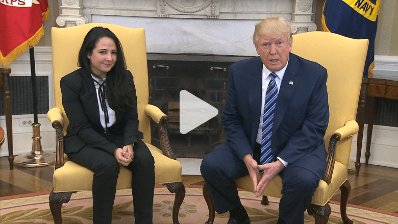 ترامب يستقبل آية حجازي: نتشرف بوجودك في البيت الأبيض