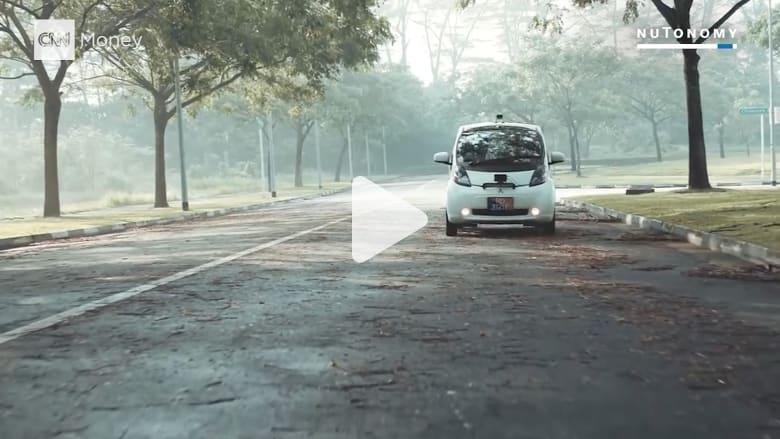 شاهد.. سيارات أجرة ذاتية القيادة تجوب شوارع سنغافورة