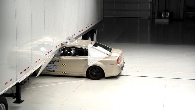 شاهد.. مصدات جانبية للشاحنات قد تقلل خطر الحوادث