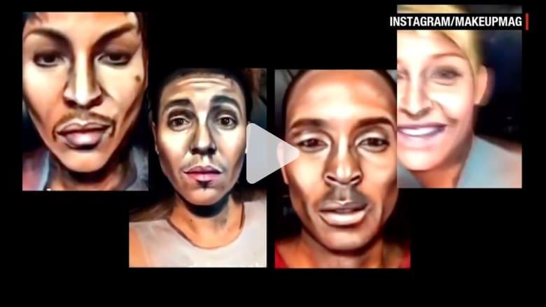 كيف حوّلت هذه السيدة شكلها لتشبه 100 وجه من مشاهير العالم؟