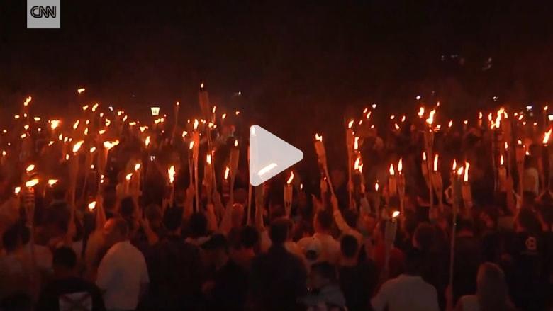 اشتباكات عنيفة خلال مسيرة احتجاجية للقوميين البيض في أمريكا