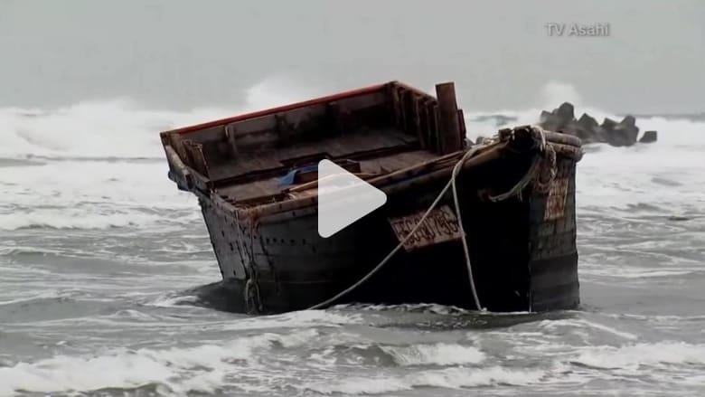 """4 """"سفن أشباح"""" تجرفها المياه لشواطئ اليابان"""
