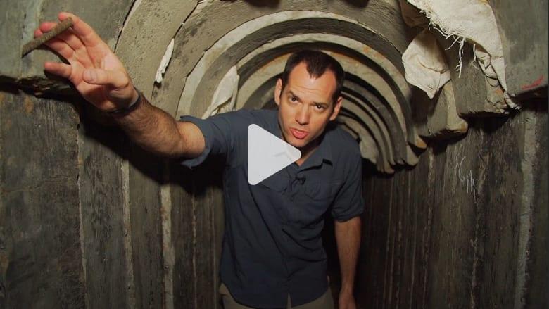 من داخل نفق حماس المدمّر من قبل إسرائيل