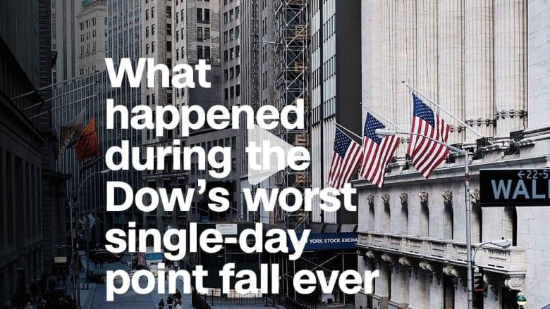 هبوط حاد لمؤشر داو جونز في بورصة نيويورك