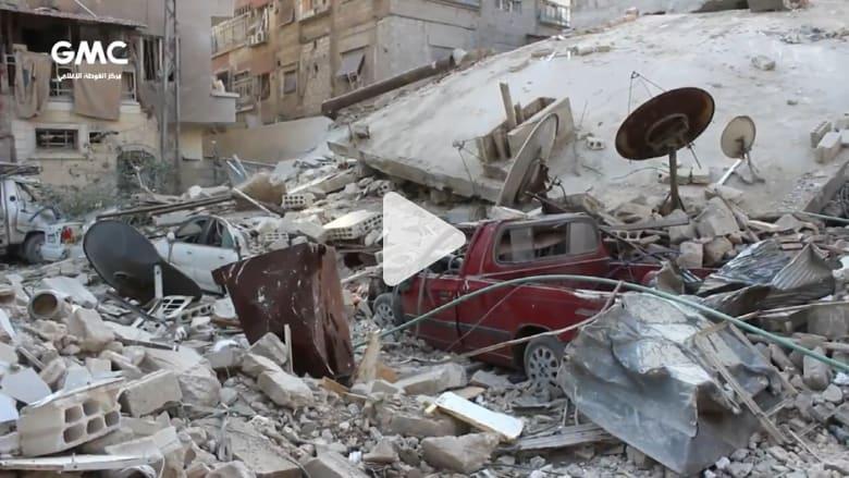 منهم 10 أطفال و10 نساء.. مقتل 47 شخصاً في الغوطة الشرقية بغارات النظام السوري