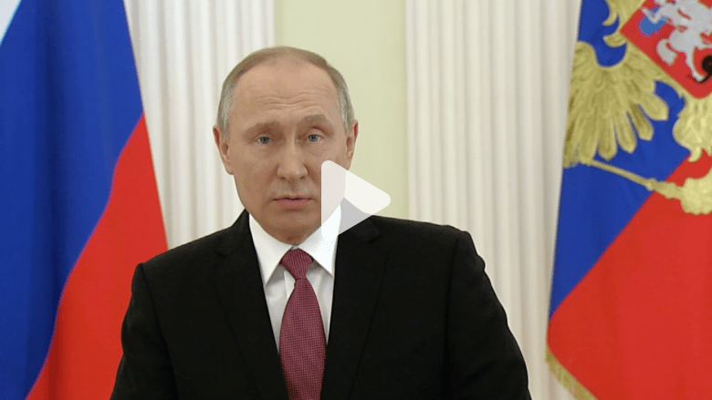 رسميا.. بوتين يفوز بـ 76.6% من أصوات الناخبين ويتعهد بتنفيذ وعوده