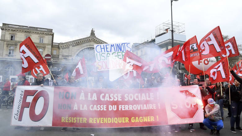 اضراب في فرنسا ضد إصلاحات ماكرون