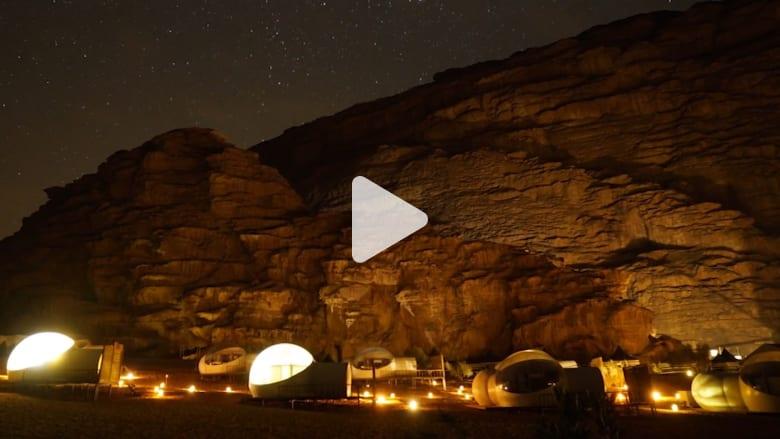 خيم فاخرة في وادي رم بالأردن..بشكل فقاعة الماء