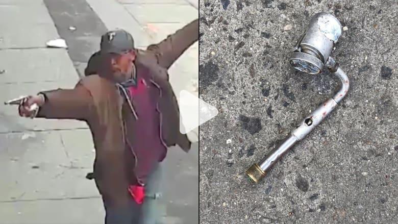 شاهد.. رجل أسود يلقى حتفه برصاص شرطة نيويورك لتلويحه بأنبوب