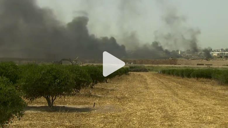 تواصل المواجهات بين الفلسطينيين والإسرائيليين على حدود غزة