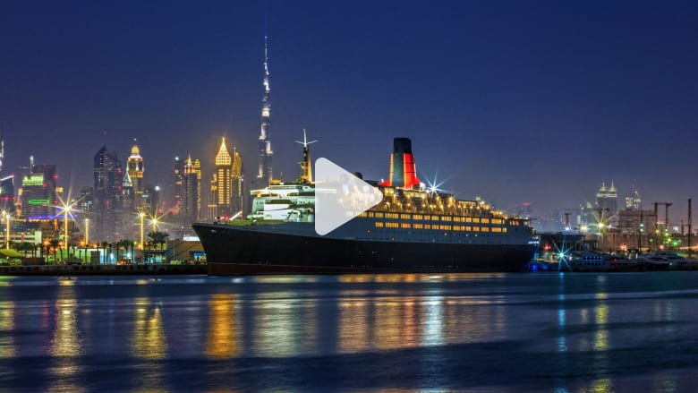 """سفينة """"كوين إليزابيث 2"""" التاريخية تتحول لفندق عائم في دبي"""