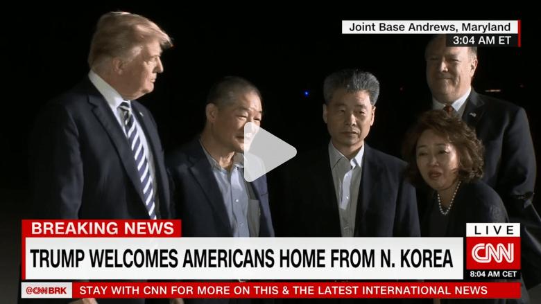 بعد وصولهم لأمريكا.. المحتجزون الأمريكيون بالكورية: أشبه بالحلم