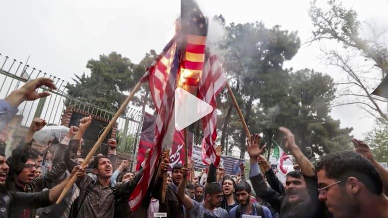 شاهد.. مظاهرات مناهضة لأمريكا وإسرائيل في إيران