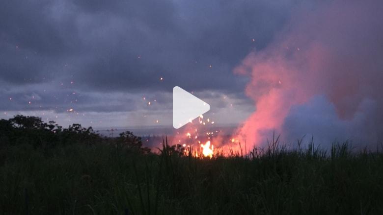 بدون مؤثرات.. اسمع دقيقتين من أصوات تصدّع بركان في هاواي