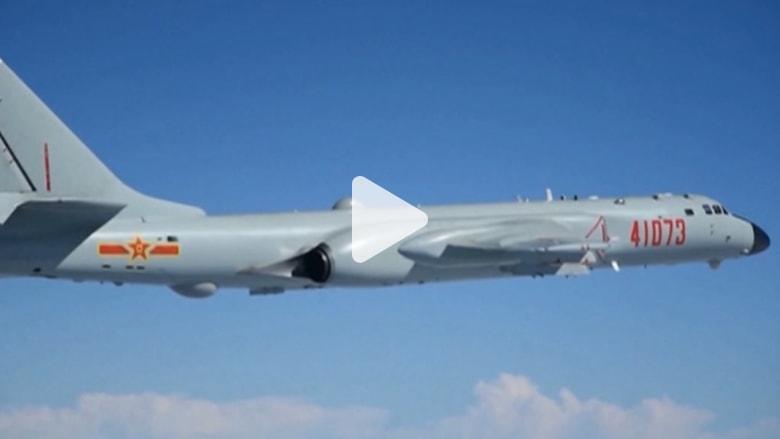 قاذفات صينية تستطيع حمل أسلحة نووية تهبط في بحر الصين الجنوبي