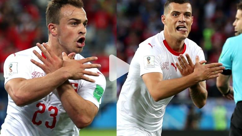 شاهد.. كوسوفو تحتفل بعد فوز سويسرا على صربيا