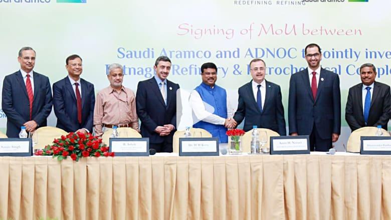 مشروع مشترك بين أرامكو وأدنوك في الهند بتكلفة 44 مليار دولار