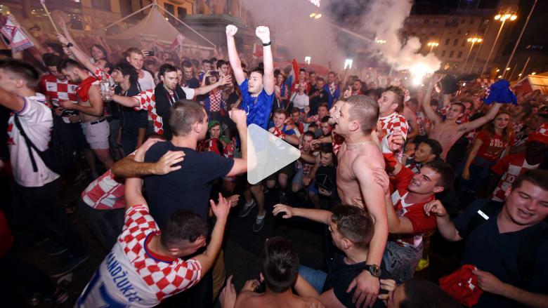 هكذا احتفلت كرواتيا بتأهل فريقها لنهائي كأس العالم