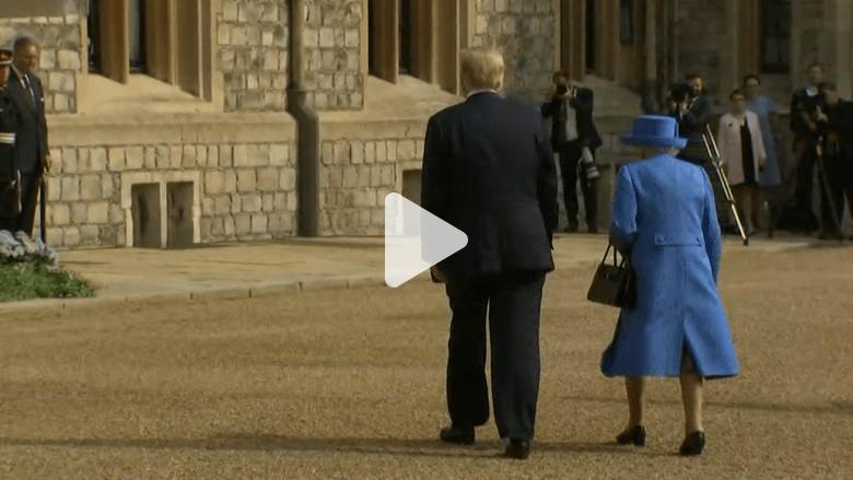 شاهد.. أبرز لقطات زيارة ترامب إلى بريطانيا