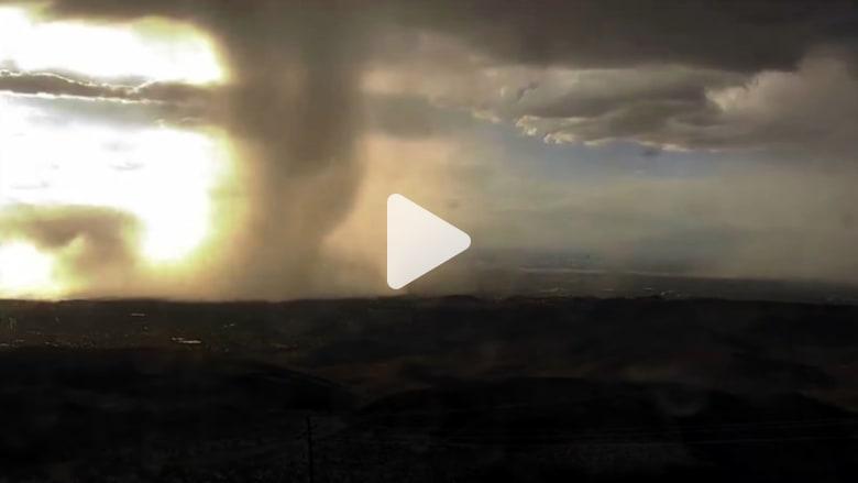 شاهد.. ظاهرة الانفجار الجزئي لعاصفة بتقنية الفاصل الزمني