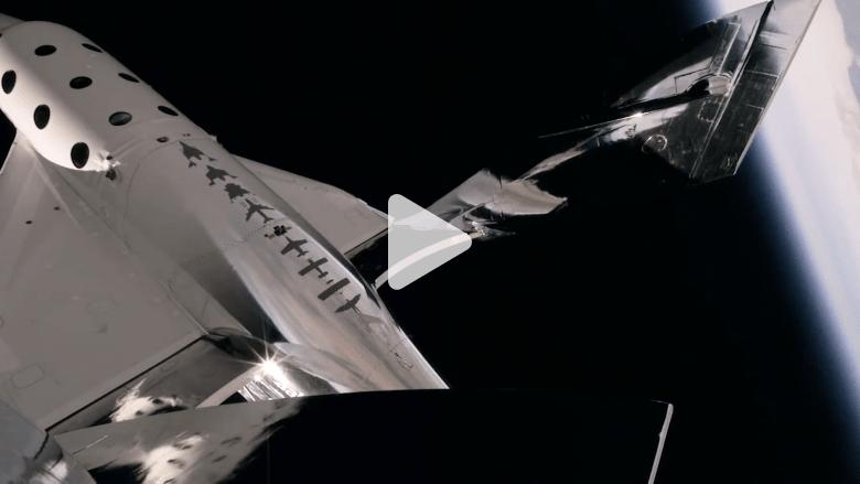 """شاهد رحلة طيران صاروخ """"فيرجن غالاكتيك"""" التجاري إلى الفضاء"""