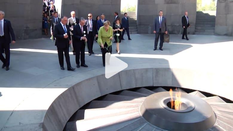 ميركل تزور النصب التذكاري لضحايا إبادة الأرمن
