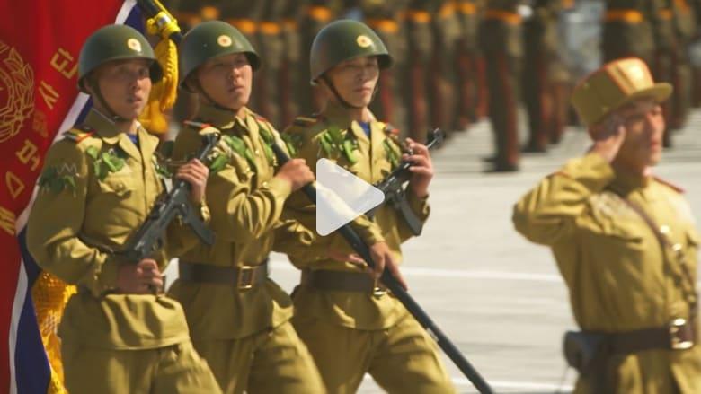 حدث غير معتاد خلال عرض عسكري بكوريا الشمالية بذكراها الـ70
