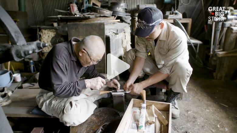 تعرف إلى فن حدادة السكاكين اليابانية التقليدية