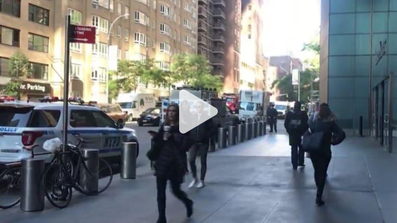 المشاهد الأولية بعد إخلاء مكاتب CNN في نيويورك