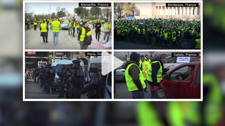 أكثر من 2000 مسيرة في فرنسا ضد زيادة أسعار الوقود