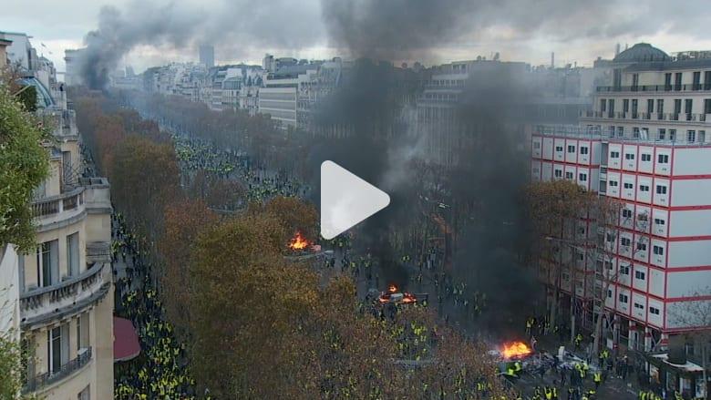 الشرطة الفرنسية تعتقل عشرات المتظاهرين في احتجاجات باريس
