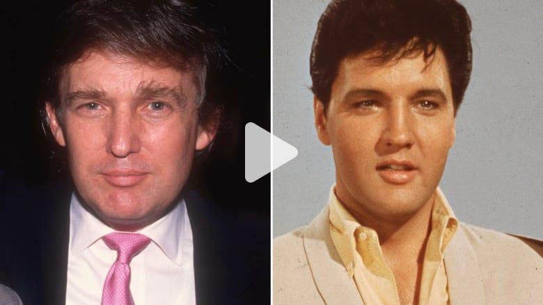 هل يتشابه دونالد ترامب والفيس بريسلي؟ احكم بنفسك