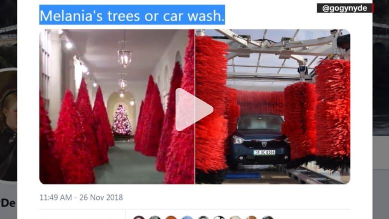 دعابات وانتقادات لأشجار ميلانيا الحمراء.. مخيفة أم رائعة؟