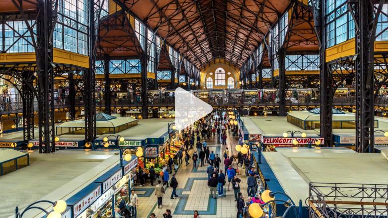 استكشف أقدم وأكبر سوق داخلي في العاصمة بودابست