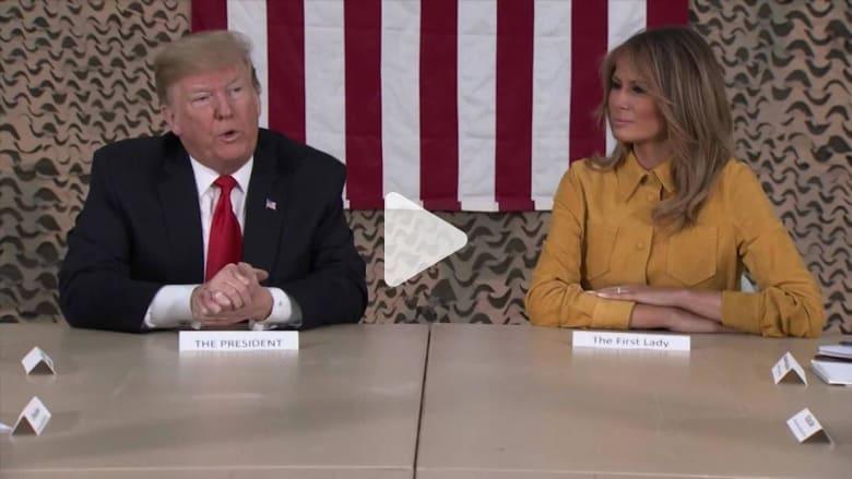 ترامب يكشف عن مخاوف رافقت زيارته الى العراق