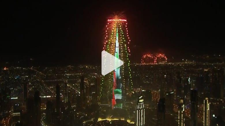 عروض برج خليفة تجذب أنظار العالم لاحتفالات دبي بالعام الجديد